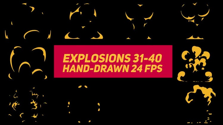 Liquid Elements Explosions 31-40: Stock Motion Graphics