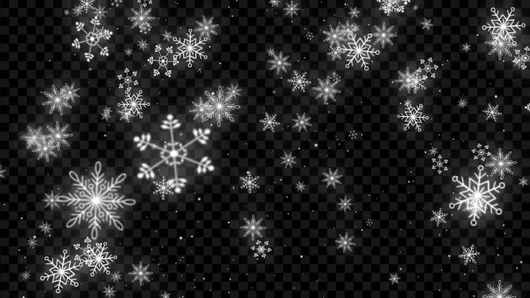 Snowflake Falling: Stock Motion Graphics