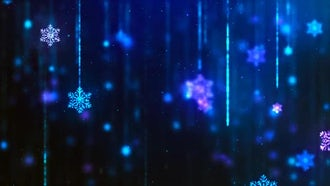 Snowflakes Blue Background: Motion Graphics