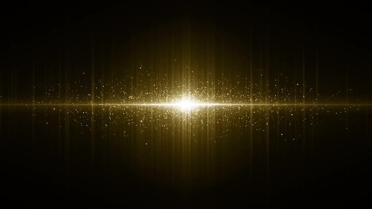 Gold Particles Background: Motion Graphics