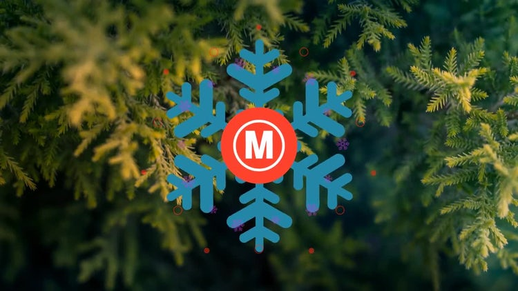 Minimal Christmas Logo: After Effects Templates