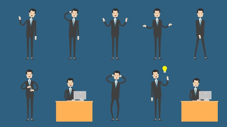 Businessman Animation Pack 1: Motion Graphics