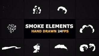 Cartoon SMOKE Elements 24 fps: Motion Graphics