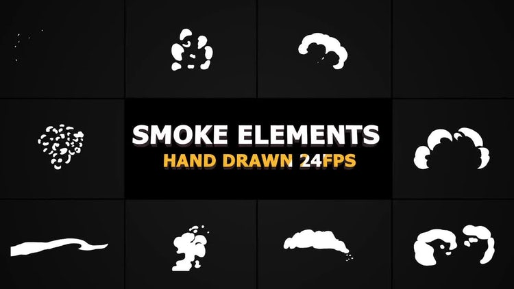 Cartoon SMOKE Elements 24 fps: Stock Motion Graphics