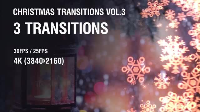 Christmas Snowflakes Transitions vol.3: Stock Motion Graphics