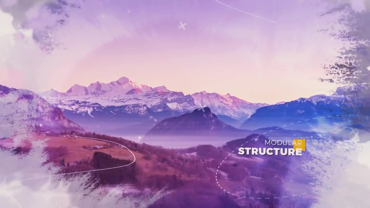 Cinematic Ink Parallax: After Effects Templates