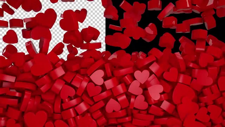Heart Raining: Stock Motion Graphics