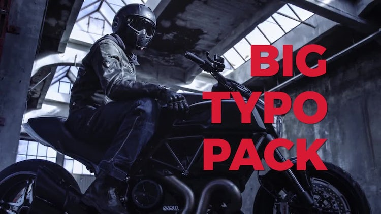 Big Typo Pack: Motion Graphics Templates