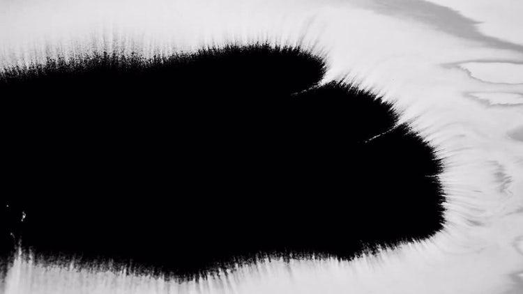 Black Ink Bleed: Stock Video