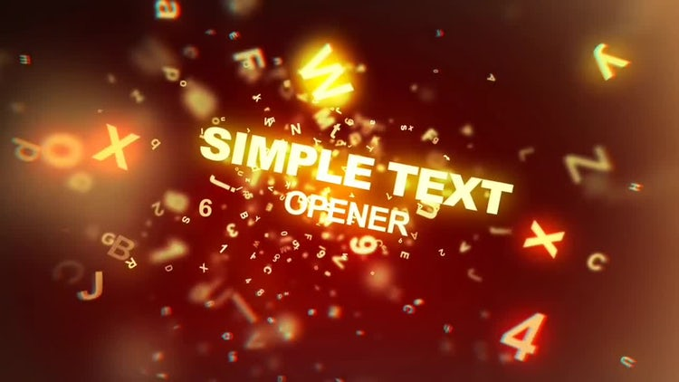 Simple Text Opener: After Effects Templates