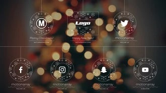 Christmas Corporate & Social Media Logo Reveals: After Effects Templates