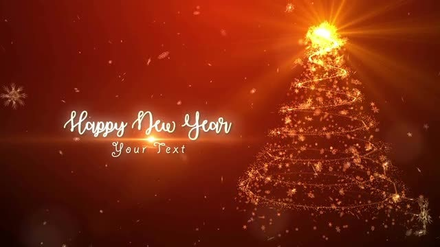 Christmas Sparkling Light: After Effects Templates