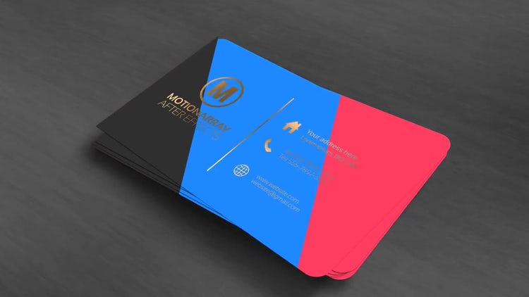 Business Card Opener: After Effects Templates