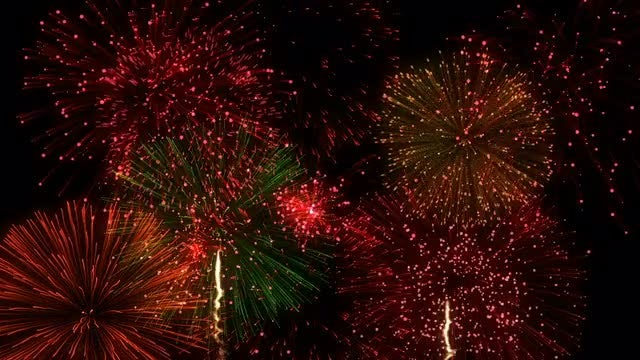 Fireworks Festival Background: Stock Motion Graphics