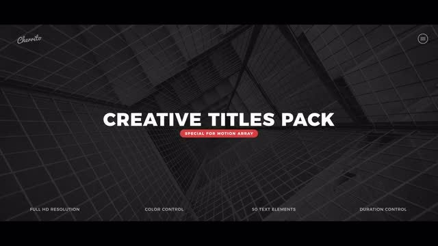 Creative Titles Pack: Premiere Pro Templates