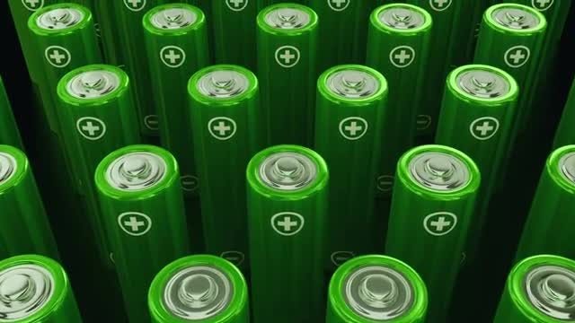 Green Power Batteries: Stock Motion Graphics