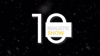 Realistic Snow Pack 4K: Motion Graphics