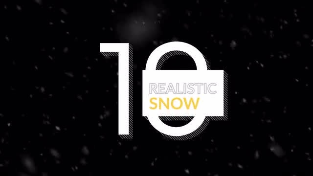Realistic Snow Pack 4K: Stock Motion Graphics