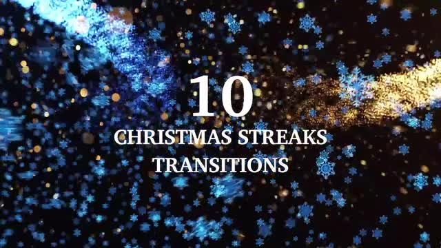 10 Light Streaks Christmas Transitions: Stock Motion Graphics