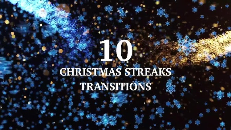 10 Light Streaks Christmas Transitions: Motion Graphics