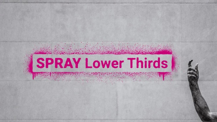 Spray Paint Lower Thirds | Graffiti Titles: After Effects Templates