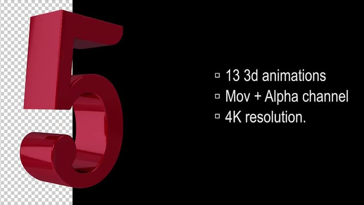 3d Loop Numbers : Stock Motion Graphics