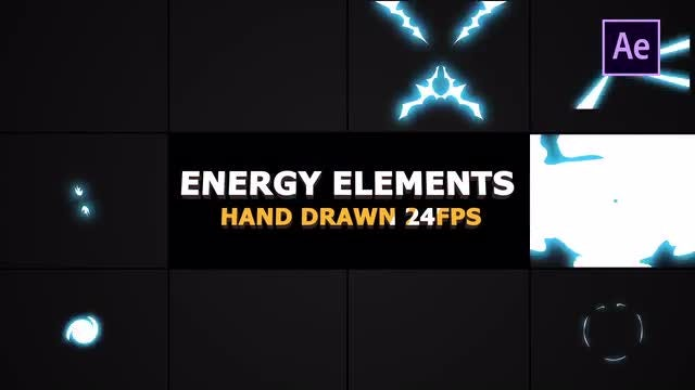 Flash FX Energy Elements And Transitions: After Effects Templates