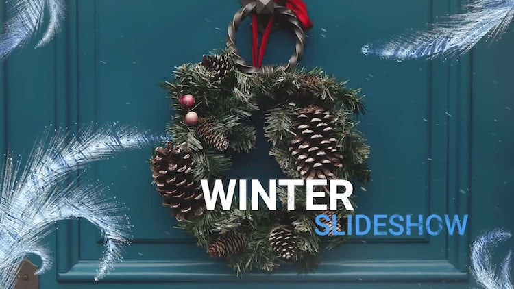 Snow Slideshow: Premiere Pro Templates