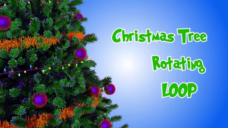 Christmas Tree Rotating Loop: Stock Motion Graphics