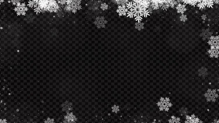 Christmas Snowflakes Sparkling : Motion Graphics