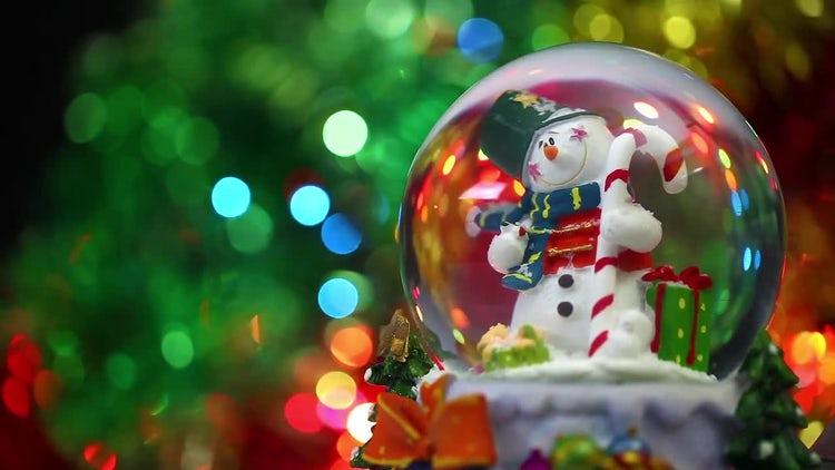 Snowman Sphere Christmas: Stock Video