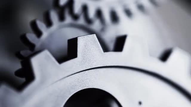 Clock Gears Retro Background: Stock Video