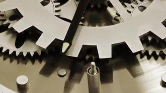 Old Technology Clock Mechanic Gears 2: Stock Video