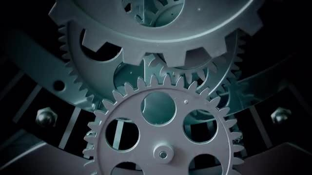 Old Clock Gears: Stock Video