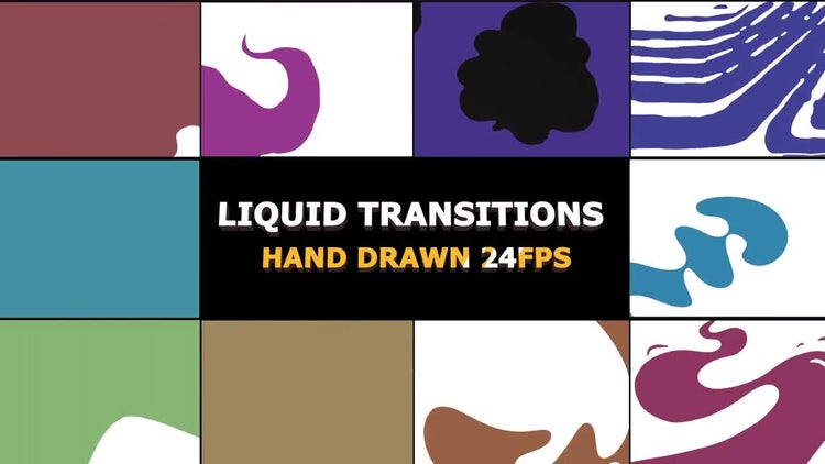 Funny Liquid Transitions: Stock Motion Graphics