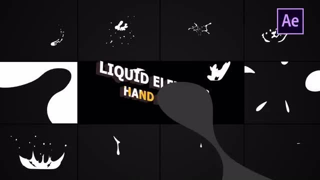 Hand Drawn Liquid Elements And Transitions: After Effects Templates