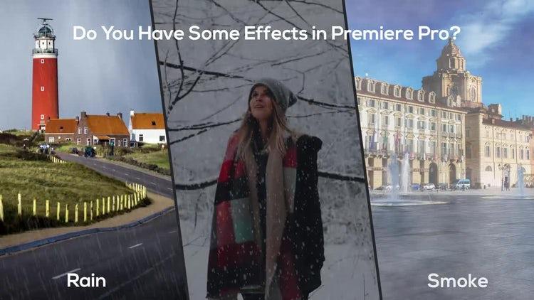 Some Effects - Rain, Snow, Smoke: Motion Graphics Templates