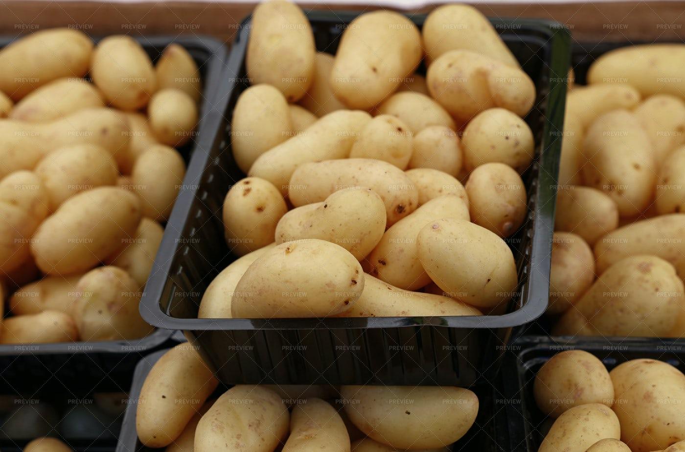 Potatoes In Box: Stock Photos
