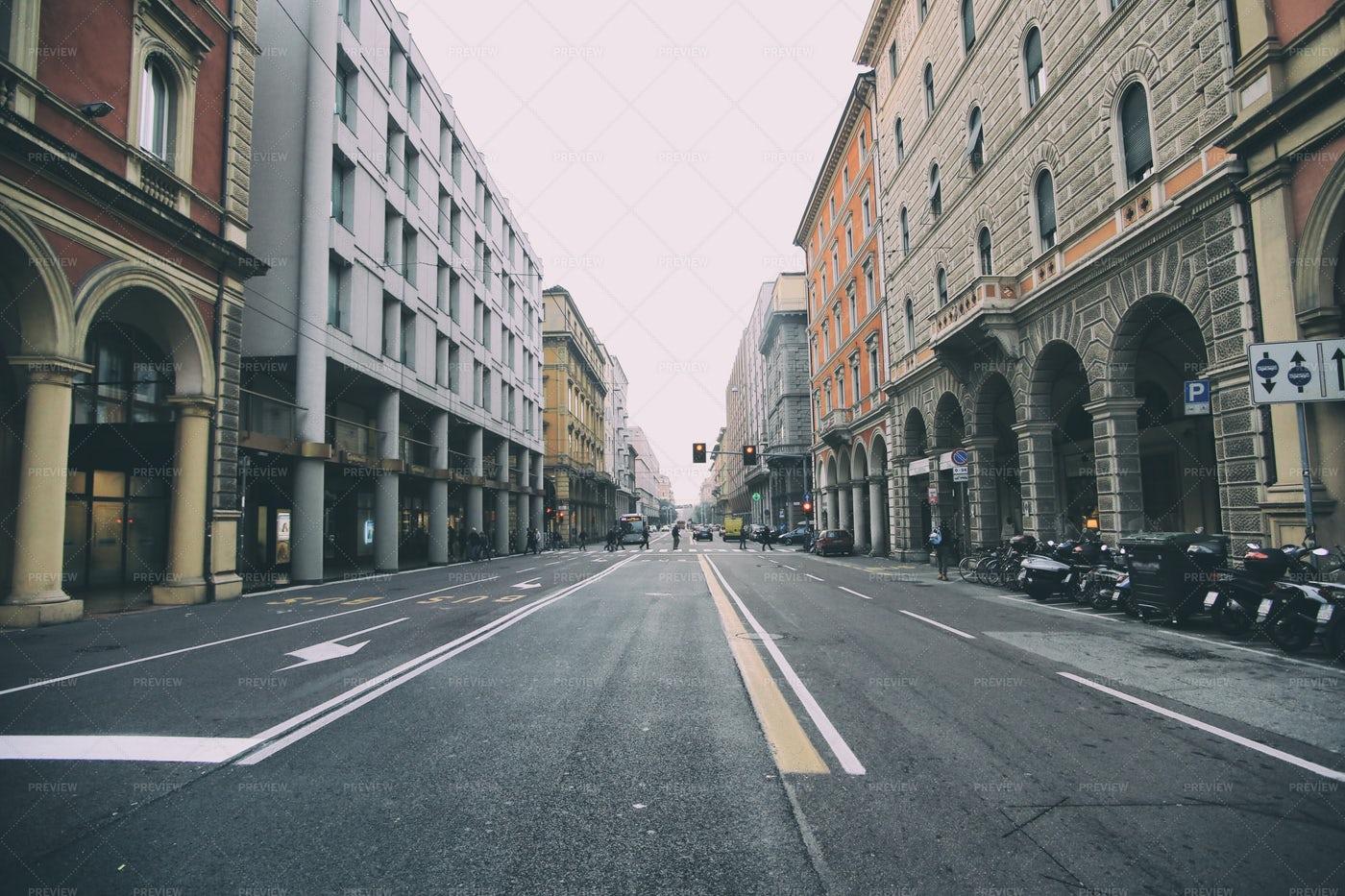Empty Streets, Bologna: Stock Photos