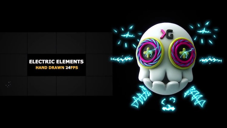 Electric Elements & Transitions: Stock Motion Graphics