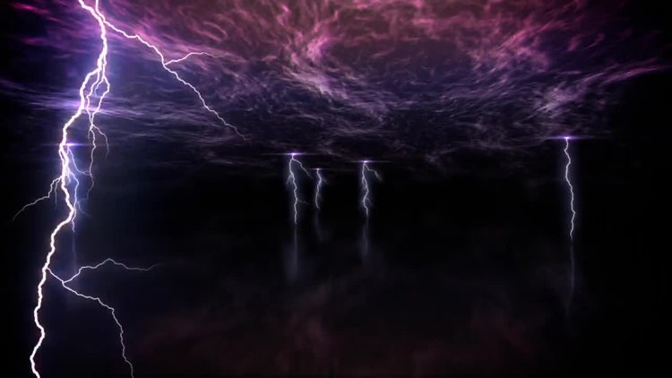 Lightning Armageddon Loop: Stock Motion Graphics