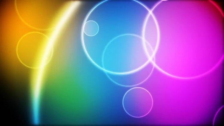 Color Circles Loop: Stock Motion Graphics
