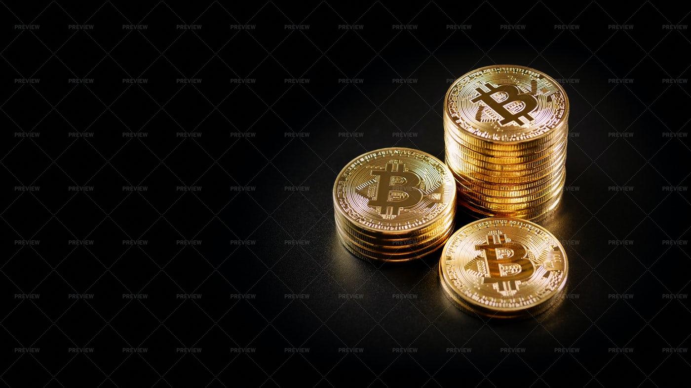 Many Bitcoins: Stock Photos