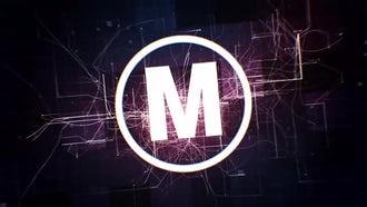Tech Fractal Logo: After Effects Templates