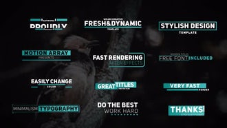 Trendy Titles: After Effects Templates