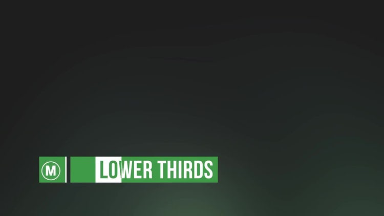 28 Lower Thirds: After Effects Templates