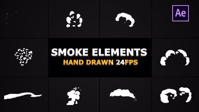 Cartoon Smoke Elements 24 Fps: After Effects Templates