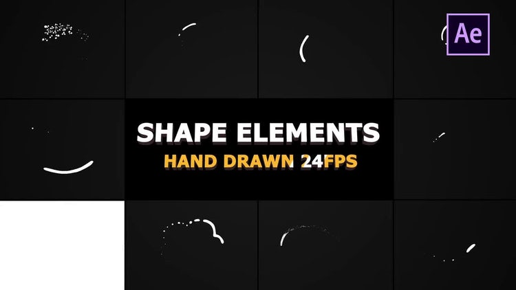 Shape Elements And Transitions: After Effects Templates