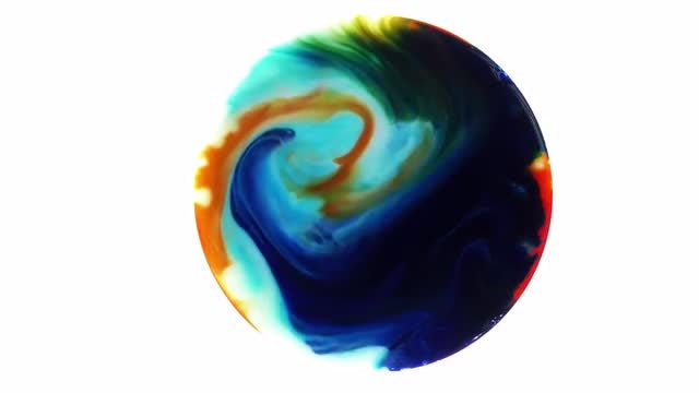 Paint Sphere 3: Stock Video