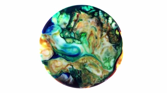 Art Ink Paint Explode Diffusion in Sphere 7: Stock Video